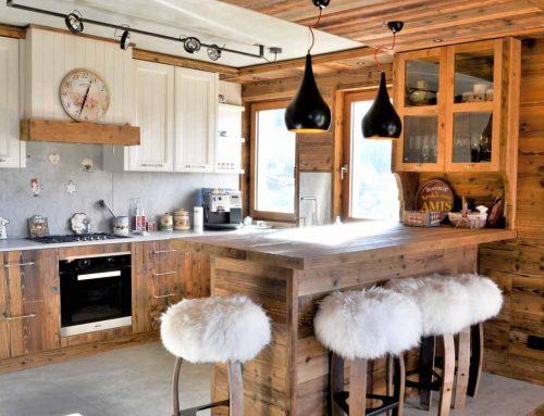 Cucina Chalet legno massello